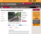 Marathon Moral Reasoning Laboratory, January (IAP) 2007