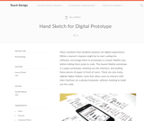 Teach Design: Hand Sketch for Digital Prototype