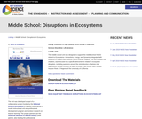 Middle School: Disruptions in Ecosystems