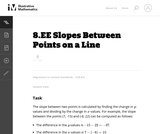 8.EE Slopes Between Points on a Line