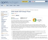 2009 Health OER Design Phase