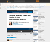Altmetrics: What They Are and How They Can Be Used