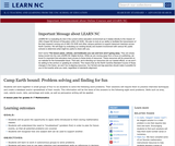 Camp Earth Bound: Problem Solving and Finding for Fun