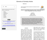 Elements of a Scholarly Article