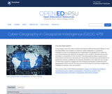 Cyber-Geography in Geospatial Intelligence