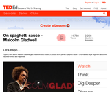 Malcolm Gladwell on Spaghetti Sauce