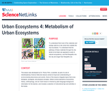 Urban Ecosystems 4: Metabolism of Urban Ecosystems