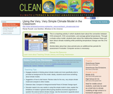 Using the Very, Very Simple Climate Model in the Classroom