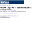 Health Impacts of Coal Combustion