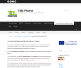Transferability and Evaluation Guide – TIBL-Project