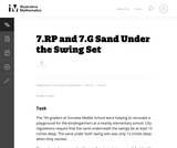 Sand Under the Swing Set