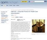 Corporate Finance for Health Care Administrators