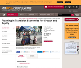 Planning in Transition Economies for Growth and Equity, Spring 2004