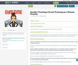 Aerobic Training: Circuit Training in a Fitness Facility