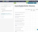 Creative Flexibility Checklist —Elementary