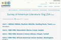 Survey of American Literature: Eng 254