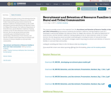 Recruitment and Retention of Resource Families  in Rural and Tribal Communities