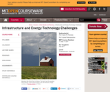 Infrastructure and Energy Technology Challenges, Fall 2011