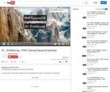 #1 - Einführung - PHP Tutorial Deutsch German