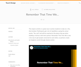 Teach Design: Remember That Time We...