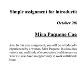 Mini case challenge student assignment on reproductive health