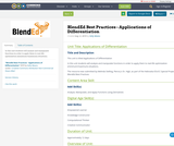 BlendEd Best Practices - Applications of Differentiation