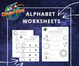 Space Theme ABC Worksheets