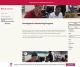 Strategies for Monitoring Progress