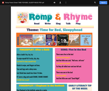 Romp & Rhyme Storytime Parent Activity Sheet: Time for Bed, Sleepyhead