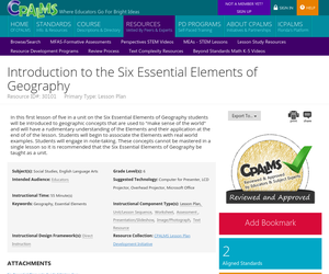 Introduction to the Six Essential Elements of Geography   OER Commons
