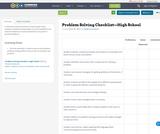 Problem Solving Checklist—High School