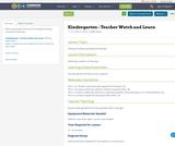 Kindergarten - Teacher Watch and Learn