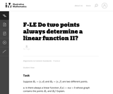 Do Two Points Always Determine a Linear Function II?