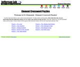 Element Crossword Puzzles