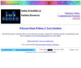 Wilcoxon-Mann-Whitney U Test Calculator