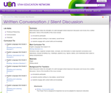 Written Conversation / Silent Discussion