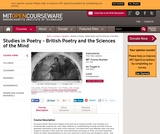 Studies in Poetry - British Poetry and the Sciences of the Mind, Fall 2004