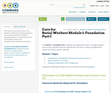 Core for Social Workers Module 1: Foundation Part I