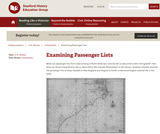 Reading Like a Historian: Examining Passenger Lists