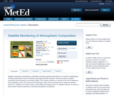 Satellite Monitoring of Atmospheric Composition