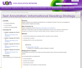 Text Annotation: Informational Reading Strategy