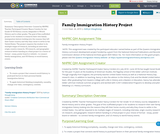 Family Immigration History Project