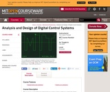 Analysis and Design of Digital Control Systems, Fall 2006