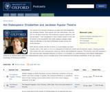 Not Shakespeare: Elizabethan and Jacobean Popular Theatre