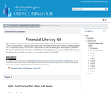 Financial Literacy Q1