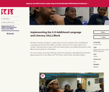 Implementing the 3-5 Additional Language and Literacy (ALL) Block
