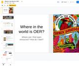 Broken Arrow 2018 Summit: Where in the World is OER?