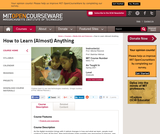 How to Learn (Almost) Anything, Spring 2001