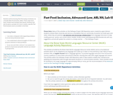 Fast Food Inclusion, Advanced-Low, ASL