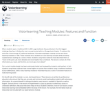 Visionlearning Teaching Modules: Features and Function